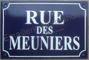 Custumized french enamel street sign 20x30cm (DAVID)