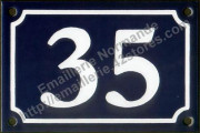 French enamel house number 10x15cm, New writting