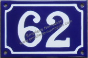 French enamel house number sign (10x15cm) from 1 to 99