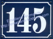 Large French enamel house number sign (15x20cm) old writting
