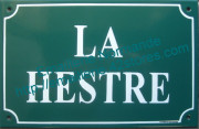 Old writting custumised French enamel street sign 20x30cm