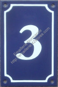 French enamel door number sign (15x10cm) only from 0 to 9 (new writting)