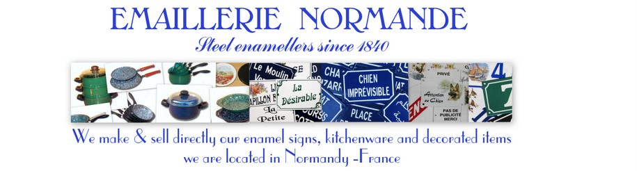 French enamel factory traditional french enamel number signs, enamel house plaques, enamel kitchenware producer in France