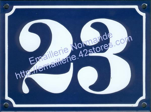 Order Your Genuine Large Traditional French Vitreous Enamel House Number Sign Emaillerie