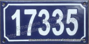 French enamel house sign (10x18cm) 5 digit house number sign