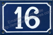 French enamel house number sign (10x15/18cm) from 1 to 99