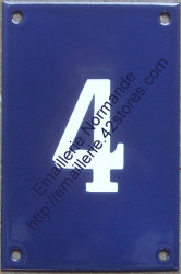 French enamel house number sign (15x10cm) only from 0 to 9