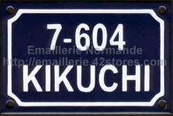 Custumized French enamel sign 10x18cm