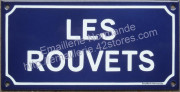 2. Traditional french street sign (12x24cm)