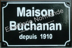 Custumised French enamel street sign 20x30cm (Arial block & small letters)