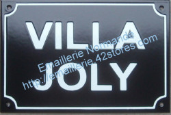 Custumised French enamel street sign 20x30cm (ARIAL BLOCK LETTERS)