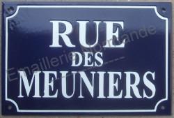 Custumised French enamel street sign 20x30cm (New writting)