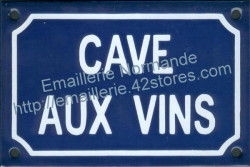 French traditional enamel sign (10x15cm) Wine cellar