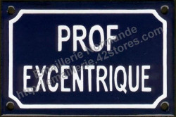 French enamel sign (10x15cm) Excentric teacher