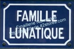 French enamel sign (10x15cm) Lunatic family