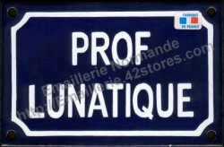 French enamel sign (10x15cm) Lunatic teacher