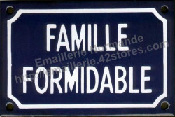 French enamel sign (10x15cm) Fantastic family