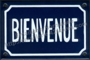 French enamel sign (10x15cm) Welcome