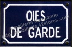 Funny French enamel sign (10x15cm) Guard geese - exists in singular