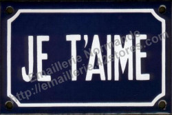 French enamel sign (10x15cm) I love you