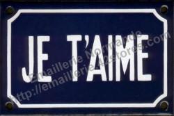 French enamel sign (10x15cm) I love you