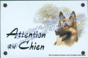 Enamel sign with dog's head (10x15cm) German shepherd