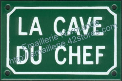 French traditional enamel sign (10x15cm) Chef's cellar