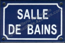 Traditional French enamel sign (10x15cm) Bathroom
