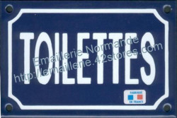 Traditional French enamel sign (10x15cm) WC-Toilets