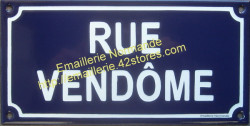 Made to order French enamel sign 12x24cm