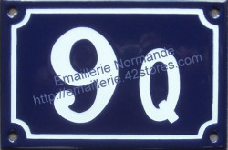 French enamel house number (10x18cm) from 10 to 999A, B... or BIS, TER