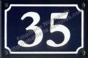 French enamel house number 10x15cm, New writting