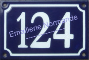 French house number 10x15cm, New writting
