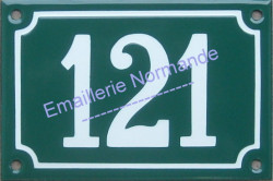 French enamel number sign (10x15cm) from 100 to 999