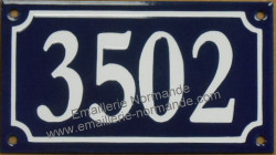 French enamel house number sign (10x18cm) over 1000 Gd
