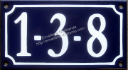 Traditional French house number for Japan 10x18cm new writting
