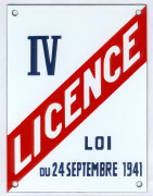 Traditional bar enamel sign (15x20cm) licence for selling alcool