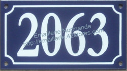 French enamel house number 1000 and more (10x18cm) New writting