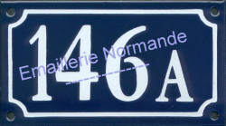 French enamel house number new writting (10x18cm) with letter or BIS, TER