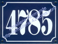 Large enamel house number 1000+ (15x20cm) Old Writting