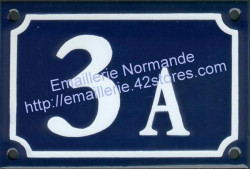French enamel house number sign (10x15cm) New writting