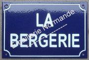 Custumized french enamel street sign 20x30cm (ARIAL BLOCK LETTERS)