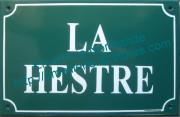 Old writting custumised French enamel street sign 20x30cm