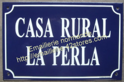 Custumised French enamel street sign 20x30cm (New writting)