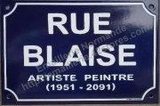 Custumized french enamel street sign 20x30cm (ARIAL)
