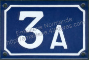 French enamel house number (10x15cm) from 1 to 99 + letter