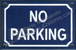 French enamel sign (10x15cm) No parking