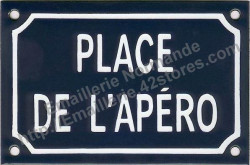 Traditional French enamel sign (10x15cm) Place de l'apero