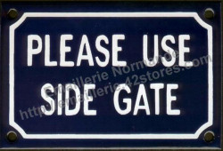 French enamel sign (10x15cm) Please use side gate