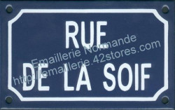Traditional French enamel sign (10x15cm) Thirst street